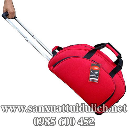 Sản xuất túi du lịch kéo đỏ 1