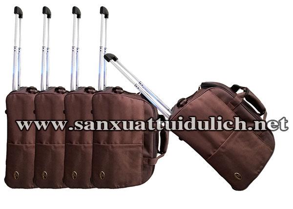 Sản xuất túi du lịch kéo nâu