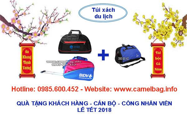 Sản xuất túi du lịch quà tặng lễ Tết 2018